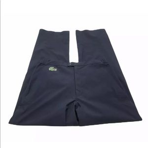 Lacoste Sport Mens Flat Front Performance Pants Zipper Cuffs Pocket Size 33 US